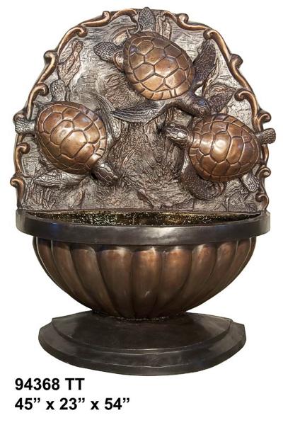 Bronze Turtle Wall Fountain - AF 94368TT