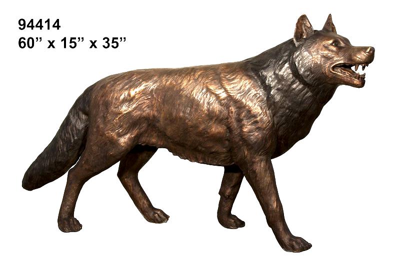 Bronze Wolf Statue - AF 94414