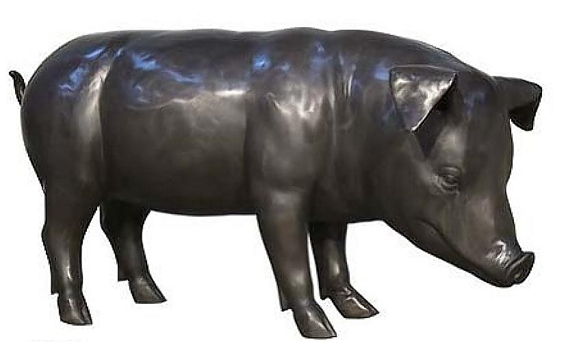 Bronze Pig Statue - AF 94547