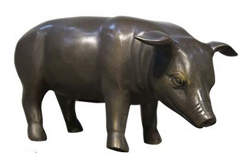Bronze Piglet Statue - AF 94549