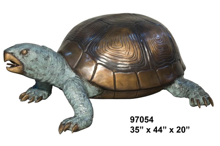 Bronze Turtle Fountain - AF 97054