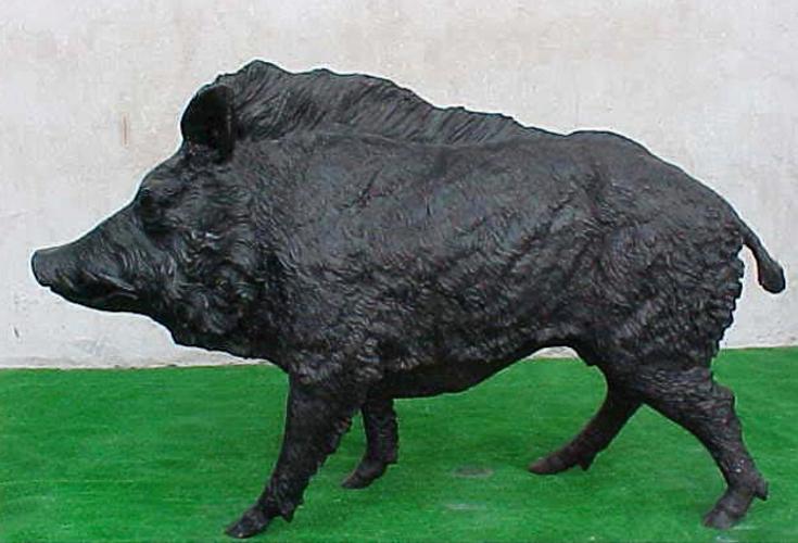 Bronze Wild Boar Statue - PA A-1048C