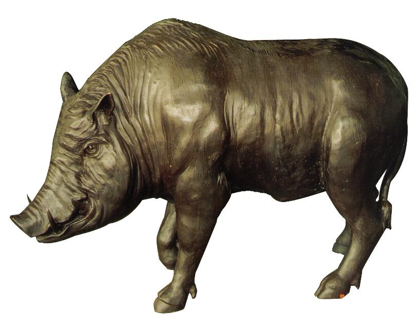 Bronze Wild Boar Statue - DD A-262