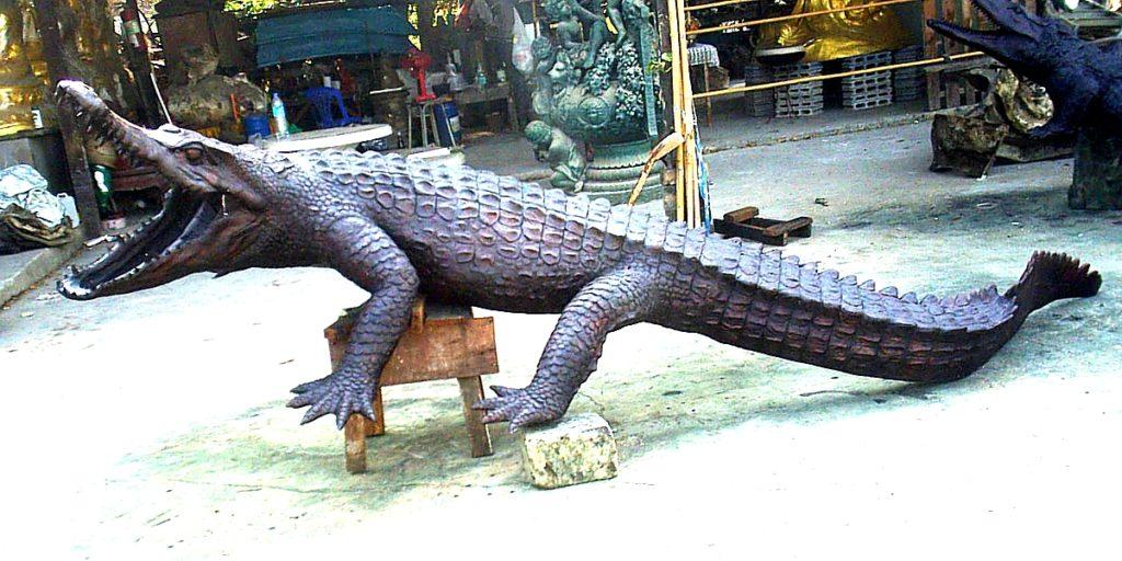 Bronze Crocodile Fountain | Statue - DD A-269