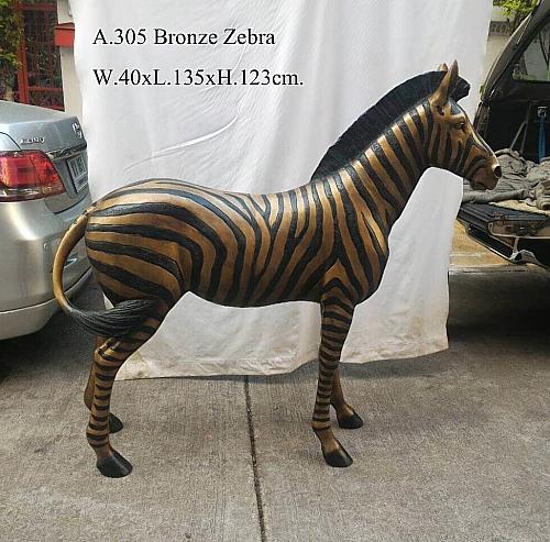 Bronze Zebra Statue - DD A-305