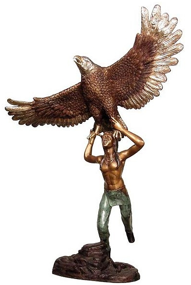 Bronze Indian Eagle Statue - AF 28928