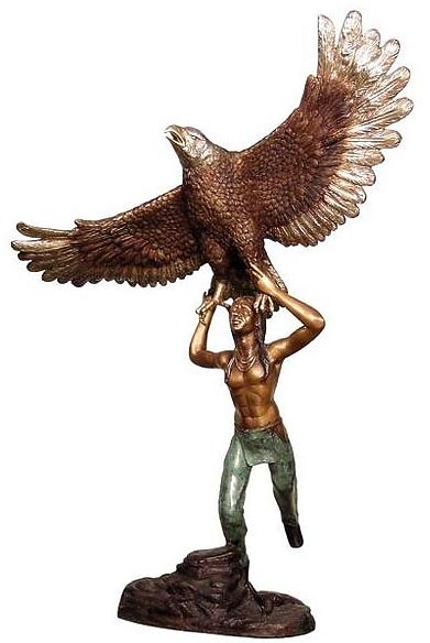 Bronze Indian Eagle Statue - AF 28928