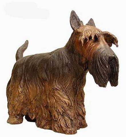 Bronze Scottish Terrier Statues - AF 50416