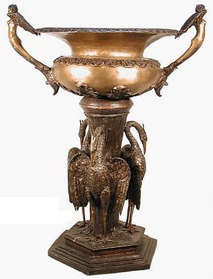 Bronze Crane Urn - AF 52450