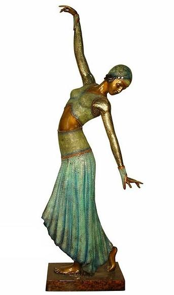 Bronze Dancing Lady Statue - AF 94050NA