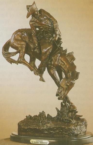 Bronze Remington Outlaw Statue - ASB 008