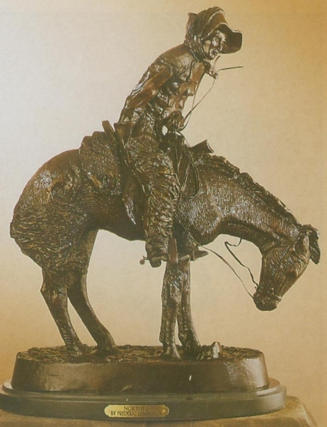 Bronze Remington Norther Statue - ASB 009