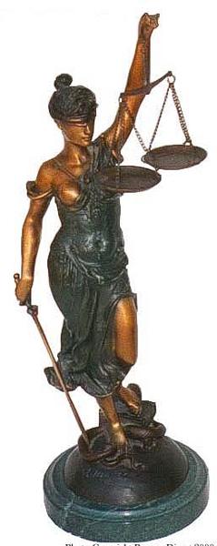 Bronze Blind Justice Statue - ASB 389