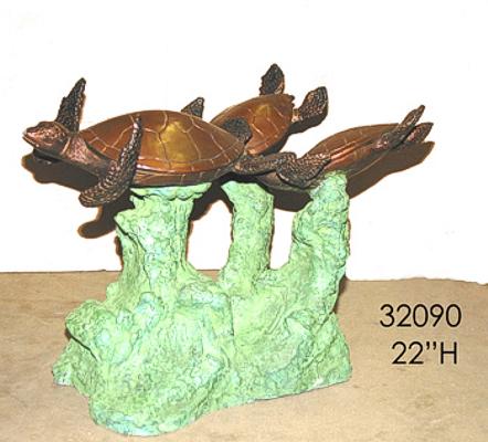 Bronze Turtles Table Base - AF 32090