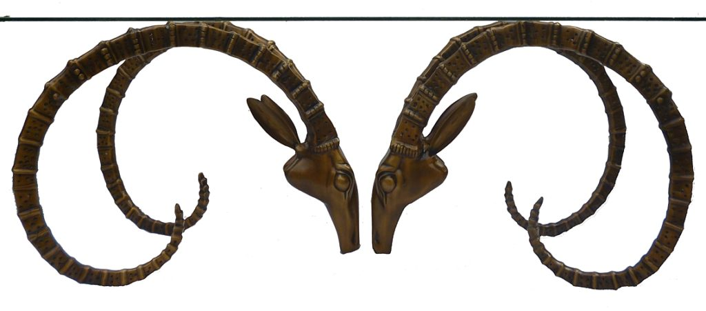 Bronze Deer Head Table - DK 1