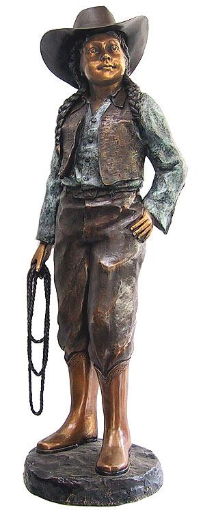 Bronze Cow Girl Statue - DD E-205