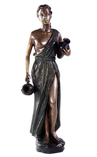 Bronze Lady Urn Fountain - DD F-010