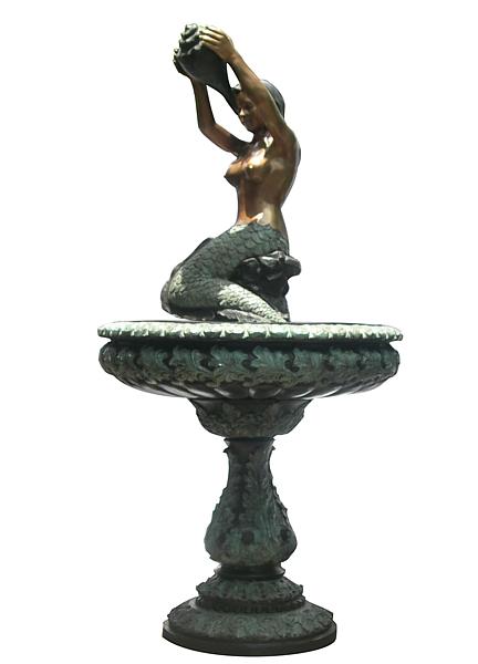 Bronze Mermaid Fountains | Bronze Mermaid Statues - DD F-114