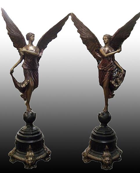 Bronze Angel Statue - PA S-1063