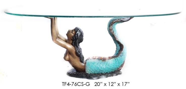 Bronze Mermaid Table - ASI TF4-76CS