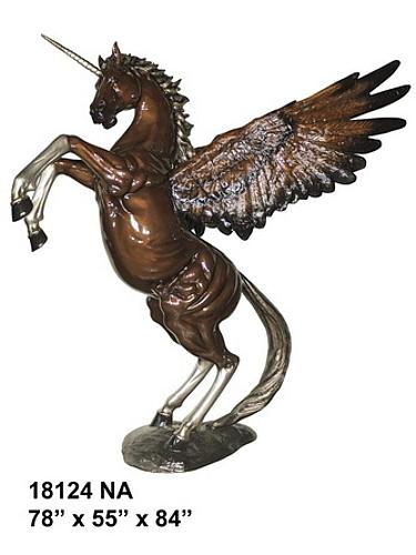 Bronze Unicorn Statue - AF 18124NA