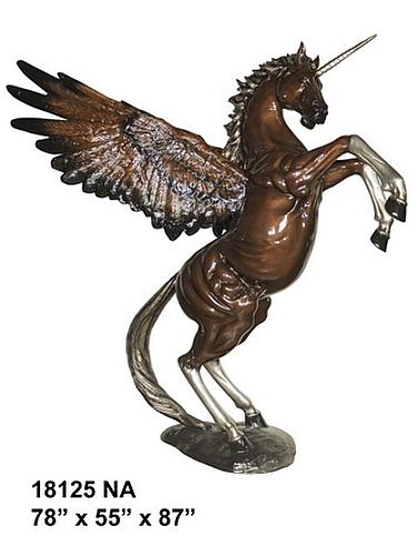Bronze Unicorn Statue - AF 18125NA