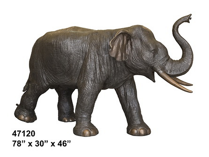 Bronze Elephant Statue - AF 47120