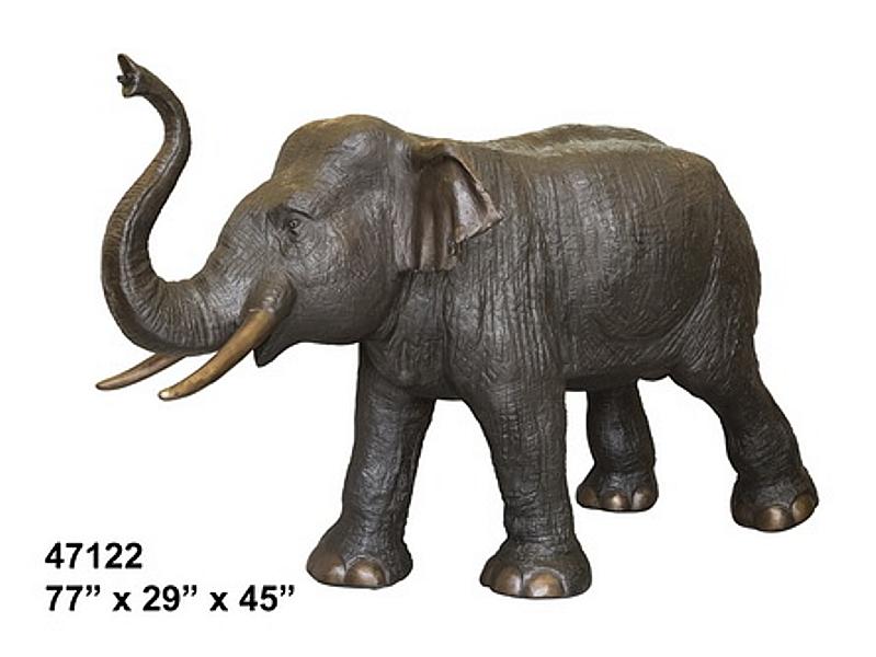 Bronze Elephant Statue - AF 47122