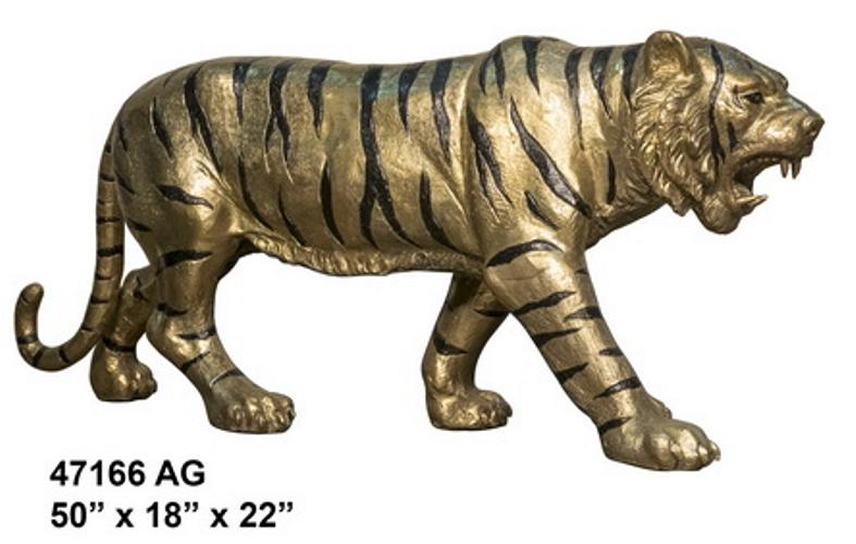 Bronze Tiger Statues - AF 47166AG