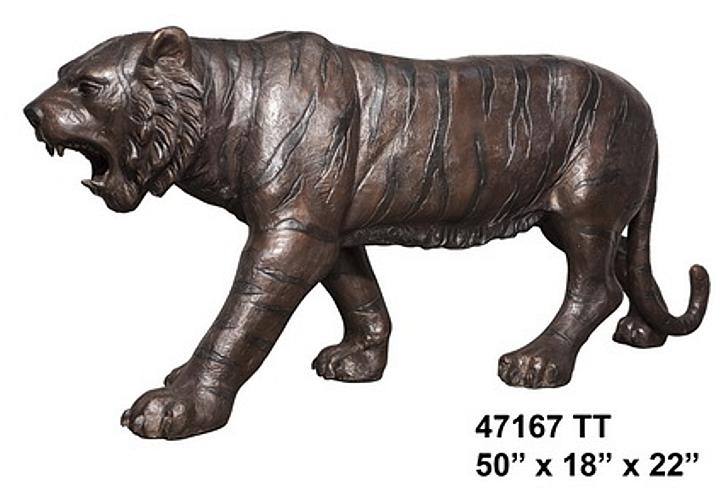 Bronze Tiger Statues - AF 47167TT