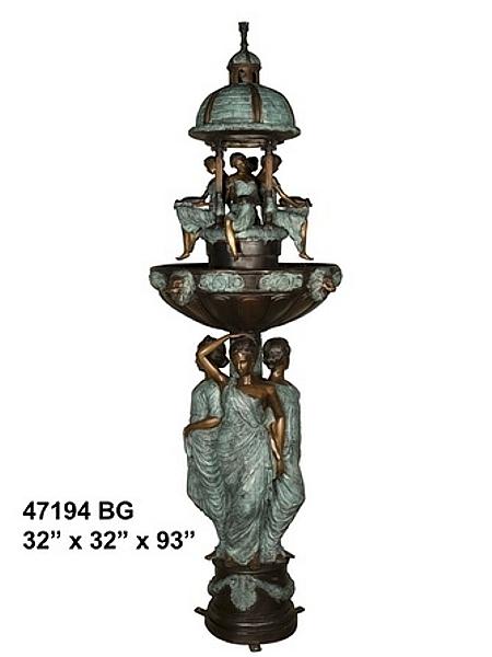 Bronze Domed 8 Ladies Fountain - AF 47194BG