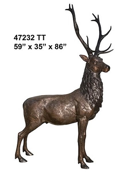 Bronze Deer Buck Statues - AF 47232TT