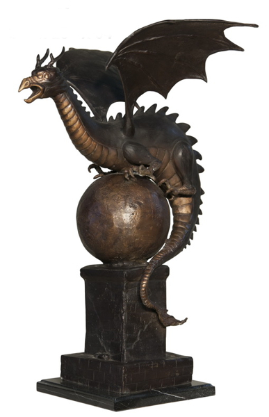 Bronze Dragon Statue or Fountain - AF 56592