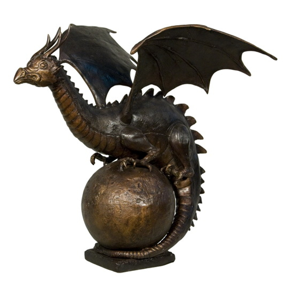 Bronze Dragon Fountain or Statue - AF 56495