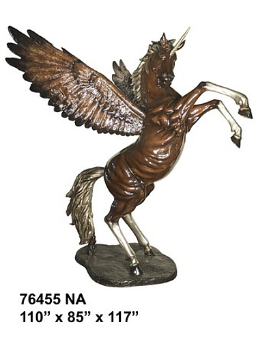 Bronze Unicorn Statue - AF 76455NA