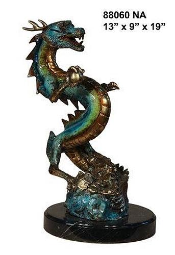 Bronze Dragon Statue - AF 88060
