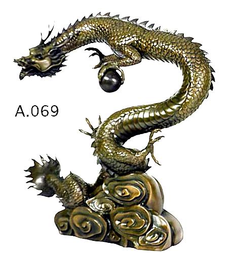 Bronze Dragon Statue - DD A069