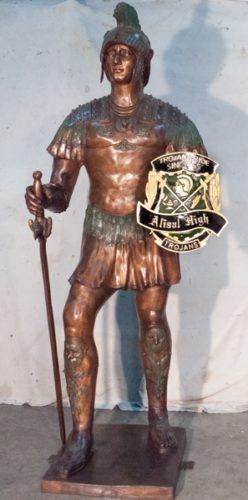"""Bronze Soldier """"Your Custom Shield"""" - AF 52753C"""
