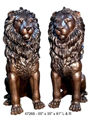 Bronze Lion Statues - AF 47268