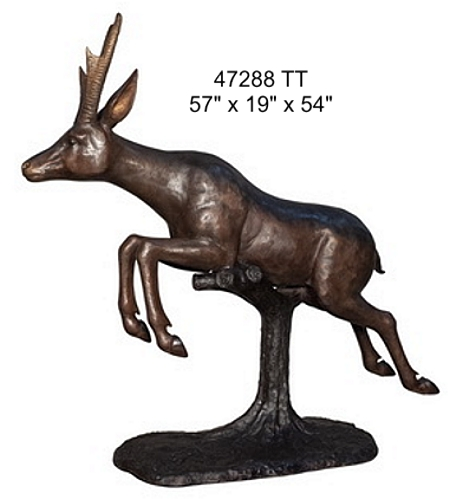Bronze Deer Statue - AF 47288 TT