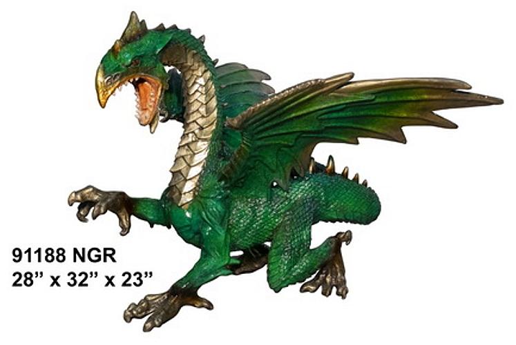 Bronze Dragon Sculptures - AF 91188 NGR