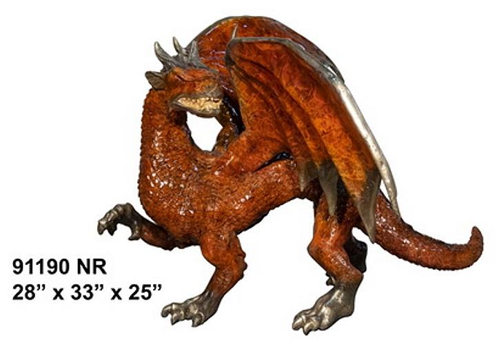 Bronze Dragon Sculptures - AF 91190 NA