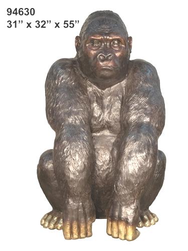 Bronze Female Gorilla Statue - AF 94630