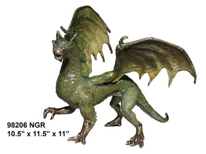 Bronze Dragon Statues - AF 98206 NGR