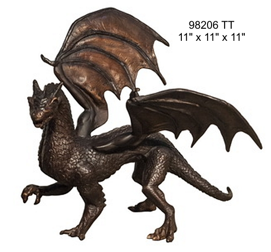 Bronze Dragon Statues - AF 98206 TT